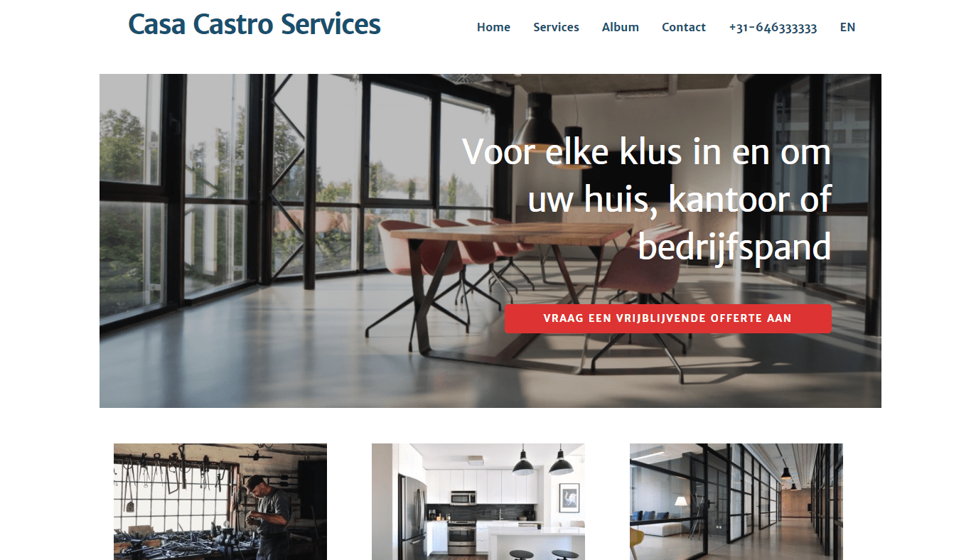 Multilingual WordPress Website: Casa Castro Services