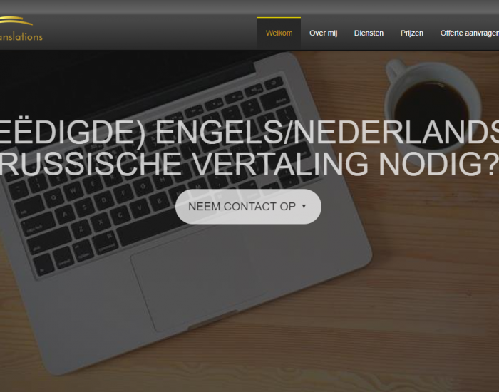 translation website English to Dutch
