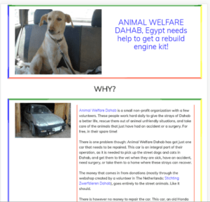 landing page Animal Welfare Dahab