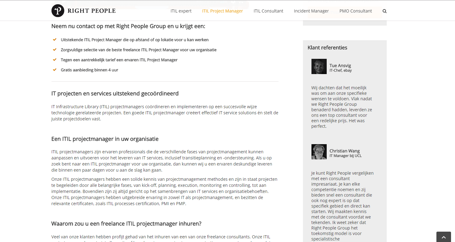 translation web pages from English into Dutch