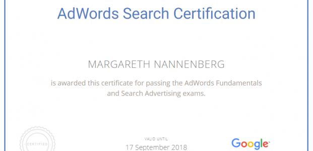AdWords Search Certificated