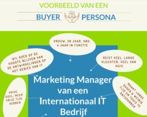Buyer Persona Voorbeeld Marketing Manager IT Bedrijf - MarsConnects